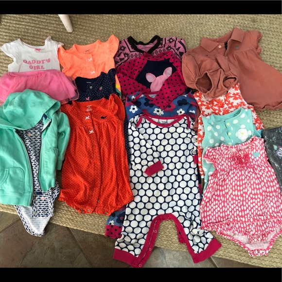 Carter S One Pieces Baby Girl Clothes Size 12 Months Poshmark